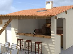 [ Pool House Cuisine D 233 T 233 Local Piscine ] - Best Free Home Design Idea & Inspiration Summer Kitchen, Modern Pools, Pool House, House, Outdoor Kitchen Design, Outdoor Rooms, Modern Outdoor Kitchen, Large Vertical Garden, Bars For Home