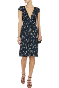 Beautiful dress but I would sew up the top a wee bit Issa Gathered printed jersey dress Outnet.com