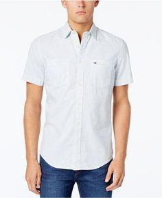 Tommy Hilfiger Men's Classic-Fit Rail Stripe Shirt