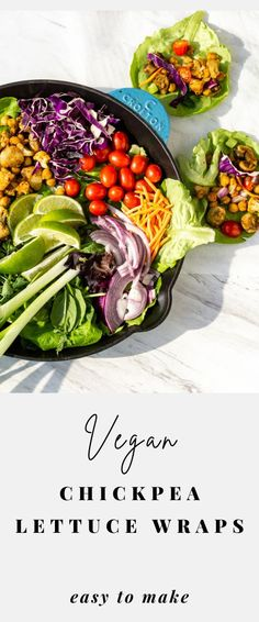 Make these healthy chickpeas, mushrooms, and cauliflower lettuce Wraps at home! These are not only quick and easy, but it also tastes a million times better than that of PF Chang's. They are vegetarian, vegan, and keto-friendly. Enjoy this plant-based recipe as an appetizer for parties or the main dish for dinner! #lettuceCups #LettuceWraps Vegetarian Sandwich Recipes, Chickpea Recipes, Vegetarian Lunch, Delicious Vegan Recipes, Raw Food Recipes, Dinner Recipes, Vegan Snacks, Vegan Dinners, Vegan Food