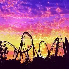 #RollerCoaster #Sunset
