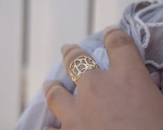 On Sale 40%  Gold Monogram Ring Gold Initial by KatyStylesGifts