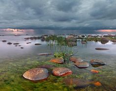 Pond with Rocks Photography.