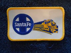 Embroidered Santa Fe Railway Blue And Yellow Warbonnet Locomotive Patch picclick.com