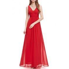 Vestido Para Bodas Largo Rojo   Suen-Vestidos de fiesta
