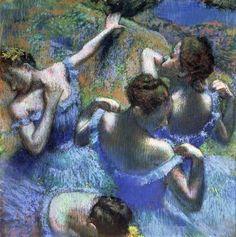Four Ballerinas behind the Scenes, 1898, Edgar Degas