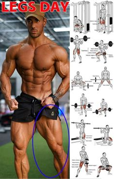 Gain Size And Strength For Monster Legs In 4 Weeks GymGuider com is part of Weight training workouts Here we have the 4 week leg programme! This is because a much as you like the look of muscle mas - Leg Workouts For Men, Fitness Workouts, Fitness Motivation, Gym Workout Tips, Weight Training Workouts, Fitness Tips, Biceps Workout, Health Fitness, Calf Muscle Workout