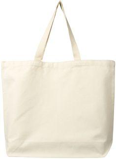 ECOBAGS Canvas Tote Bag - Certified Organic Cotton Reusable Shopping Bag - ECOBAGS.com