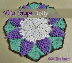 Free crochet pattern - Wild Grape Doily - Page 2