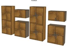 """Another look on """"POWER"""" cupboards collection customization options."""