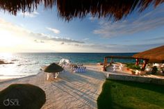 Sunset Beach Wedding-Stunning sunset beach wedding set up available at the Presidente Intercontinental in Cozumel, Mexico. Submitted by : RomanceJourneys.com  in Dallas, Texas