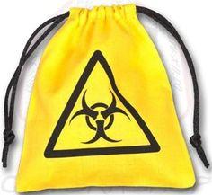 Q-Workshop: Colour Biohazard Linen Dice Bag - Yellow Color