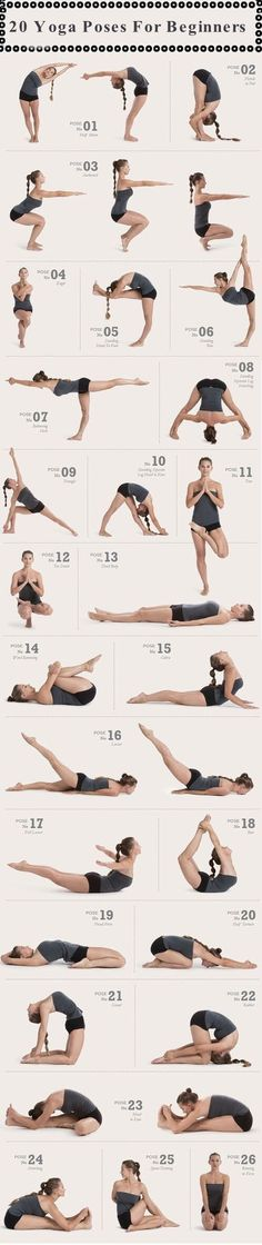 20 Yoga Poses For Beginners
