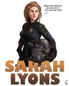 Sarah Lyons - Fallout 3 by CameronAugust on DeviantArt Fallout Lore, Fallout Fan Art, Fallout Concept Art, Fallout Theme, Fallout Comics, Fallout Posters, Fallout Brotherhood Of Steel, Fallout Cosplay, Borderlands Cosplay