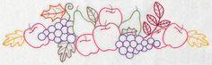 Autumn Bounty Border (Vintage) design (K2966) from www.Emblibrary.com