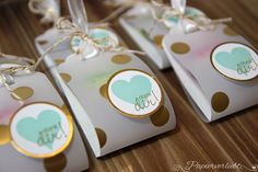 For tea bags or Ghirardelli chocolates?  Cute, quick, and easy with scallop tag punch
