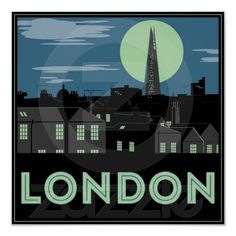 Art Deco Style London Poster $13.85