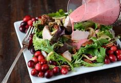 Turkey Salad with Cranberry Vinaigrette (recipe via www.thenovicechefblog.com)