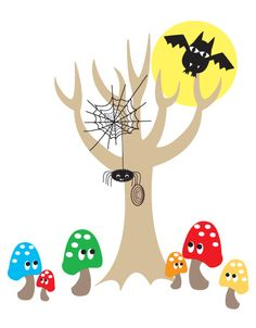 Spooky Forest wall sticker from cocooncouture.com
