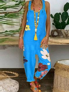 Jumpsuit Outfit, Casual Jumpsuit, Rompers Women, Jumpsuits For Women, Leggings, Casual Dresses, Casual Outfits, Women's Casual, Floral Denim