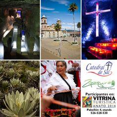 Catedral de sal y el destino Zipaquirá en una de las vitrinas turística más importante de latino américa, Anato 2014.