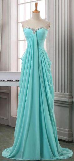 Sweetheart Beaded Prom Dress,Chiffon Prom Dress, CheapProm Dress,