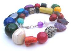 Naszyjnik z kolorowych kamieni w Florfanka na DaWanda.com