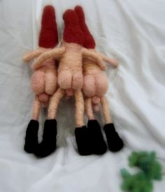Needle felted naked naughty Gnome MATURE the nekked gnome by nodsu, $48.50