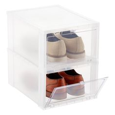 Large Drop-Front Shoe Box Case of 6 | The Container Store
