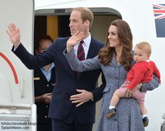 4/25/14 Royal Tour Down Under 2014 | William, Kate and George Say Goodbye to Australia