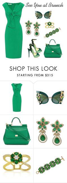 """Brunch Style"" by karen-galves on Polyvore featuring Oscar de la Renta, Dolce&Gabbana, Effy Jewelry and Belk & Co."