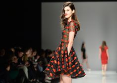 Narces brought the party to the runway at Toronto Fashion week with a new collection punctuated by playful patterns, cute cocktail dresses and fanciful frocks.