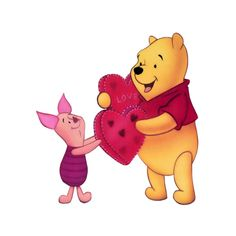 Disney Valentine's Day Winnie the Pooh Clipart --> Disney-Clipart.com ❤ liked on Polyvore