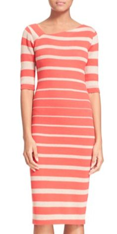 ce0ff6cbb cute striped coral dress Vestidos De Media Manga