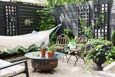Inside This One Kings Lane Editor's Inspiring Backyard Makeover: One Kings Lane editor Megan Pflug gives us a glimpse into her stylish and Summer-read., Inside This One Kings Lane Editor's Inspiring Backyard Makeover Outdoor Rooms, Outdoor Gardens, Outdoor Living, Outdoor Decor, Garden Makeover, Backyard Makeover, Boho Deco, Estilo Hippie, Small Backyard Landscaping