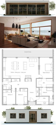 Single story home plan