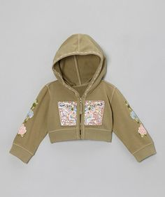 A neutral color makes the perfect backdrop for a playful of medley embroidered accents. Made from a stretchy-soft cotton blend, this cozy hoodie will ensure a little flower child is as comfy as can be.