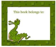 printable book plates | Dragon Bookplates bookmark