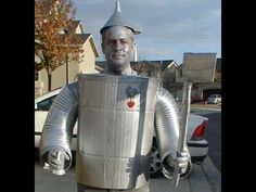 How to make a Tin Man costume from The Wizard of Oz. This isn't perfect, I know. But I did my best. :) I hope that if your doing a Tin Man costume, you can g...