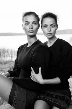Moa Aberg and Becca Breymas for Alexander Wang in Elle Sweden, photographed by Benjamin Vnuk