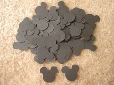 100 Disney Mickey Mouse Wedding Birthday Baby Shower Paper Die Cut Cards Confetti Tag Scrapbooks Hand Punch. $2.50, via Etsy.