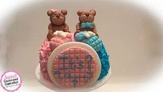 Sweet Cucas and Cupcakes by Rosângela Rolim: Mini Bolo e Mini Cupcakes para Chá Revelação!