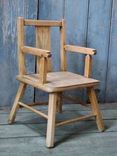 A vintage child's chair