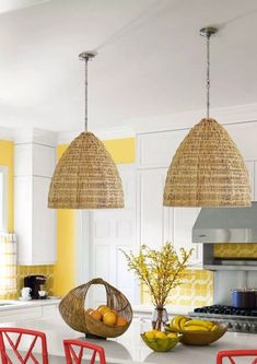 Casa Cook Large 20 and 24 Rattan Pendant Light Wicker Eclectic Boho Mid Century Modern Lighting Woven Natural Scandinavian Nordic Style Mid Century Modern Lighting, Decor, Interior Design, Rattan Pendant Light, Interior, Contemporary Pendant Lights, Rattan, Home Decor, Modern Baskets