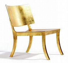 .Gold chair.