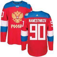 Team Russia #90 Vladislav Namestnikov Red 2016 World Cup Stitched NHL Jersey