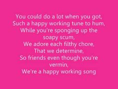 Music for cleaning the house.  ♫ Enchanted - 'Happy Working Song' Lyrics ♫