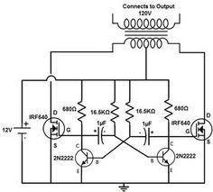 50-150 Watts Power Inverter Circuit using 2N3055_Circuit