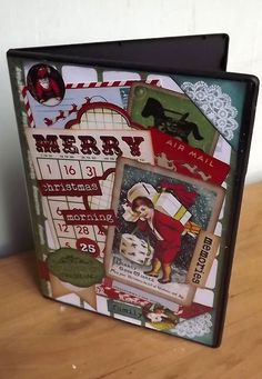 Altered Christmas DVD Case