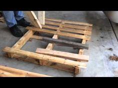 Pallet breakdown using 2 boards - YouTube